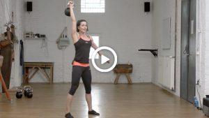 Kettlebell-Training für Fortgeschrittene zusammen mit FITNESS WERK